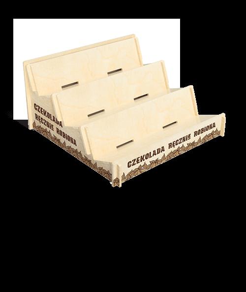 Ekspozytor sklepowy na czekoladę - przykład produktu