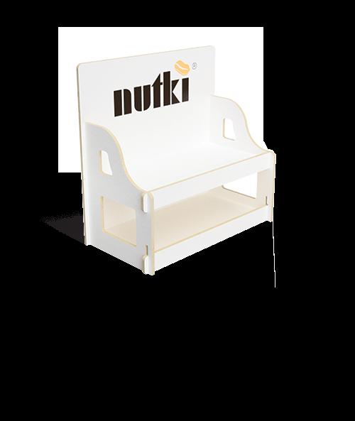 Werbestand für Nussverpackungen - przykład produktu