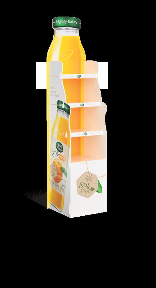 Ekspozytor na soki owocowe stand POS - przykład produktu