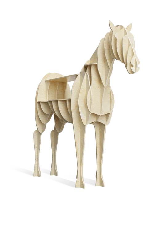Werbestand in Form vom Pferd zur Selbstmontage - przykład