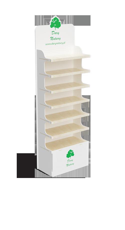 Ekspozytor ze sklejki na ekoprodukty - przykład