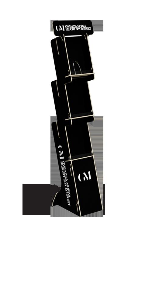 Elegancki stand ze na ulotki i inne materiały reklamowe - przykład produktu