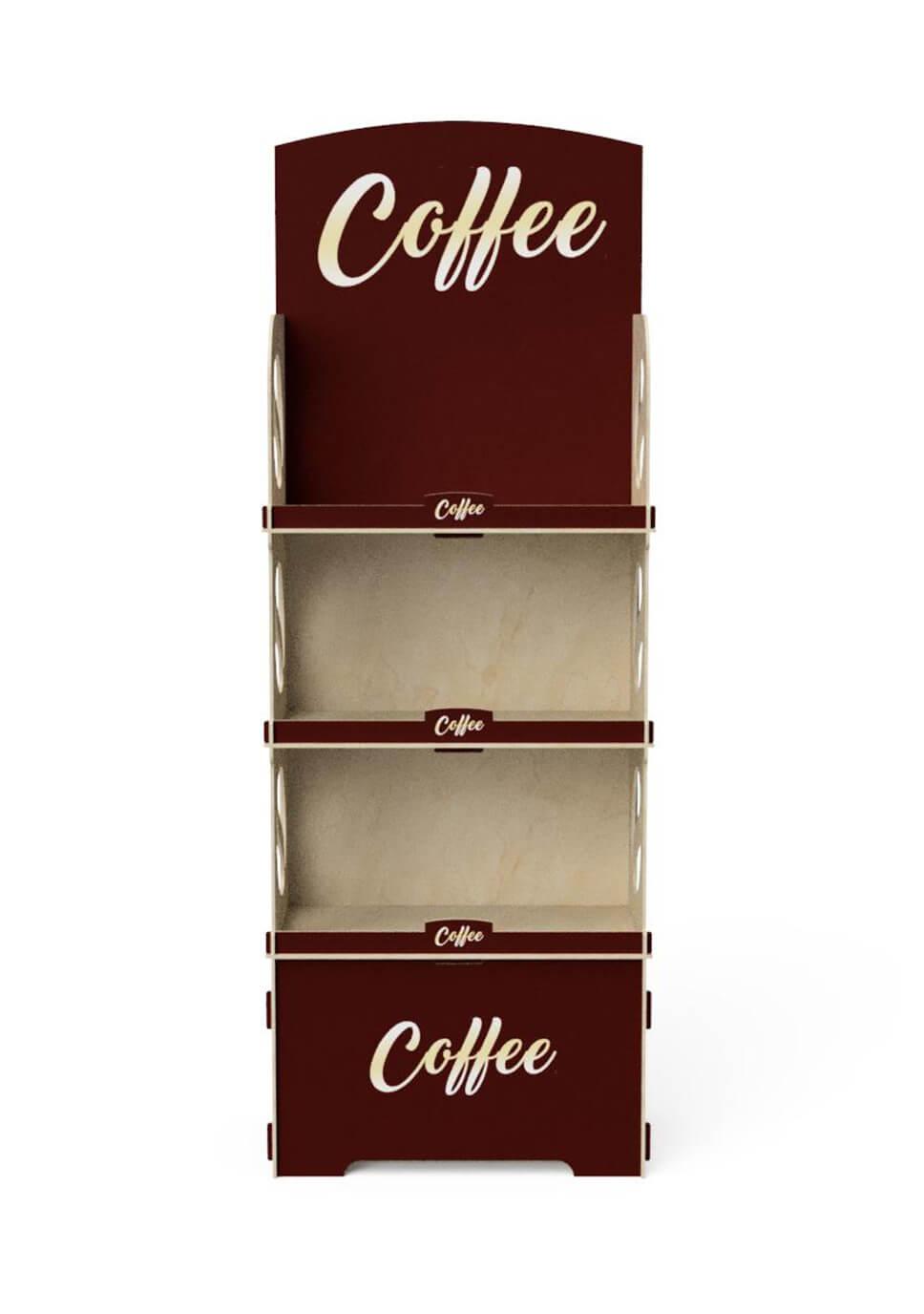 3-półkowy ekspozytor na opakowania kawy - no. 1412