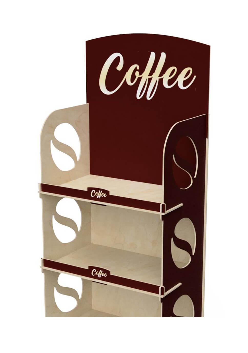 3-półkowy ekspozytor na opakowania kawy - no. 1415